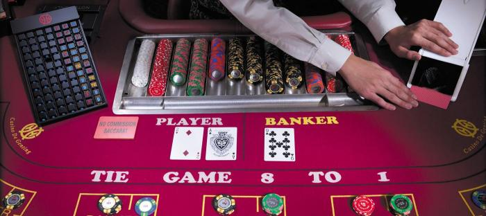 baccarat  table cards